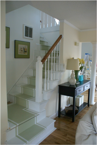 Painted Stairs After
