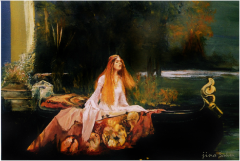 Lady of Shalott Wall Mural
